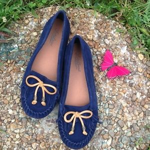 LUCKY BRAND BLUE MOCCASINS LOAFER